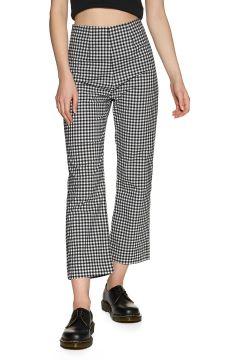 Afends Ryder Gingham High Waist Damen Trousers - Black White(113919111)