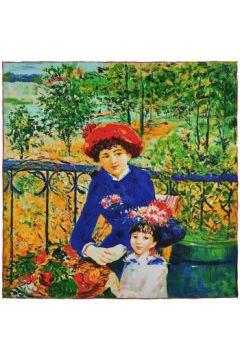 Echarpe Silkart Carré de soie Auguste Renoir Sur la terr(115427092)