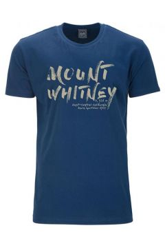 """Ahorn: T-Shirt mit auffälligem \""""Mount Whitney\""""-Print, 6XL, Blau(98057252)"""