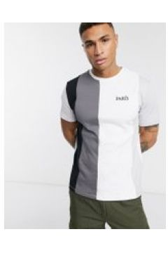 "River Island - T-shirt color block con scritta ""Paris\""-Bianco(112515337)"