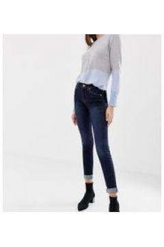 Oasis - Jeans skinny a vita medio alta lavaggio scuro-Blu(112790606)