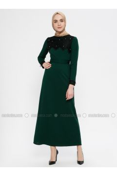 Green - Crew neck - Unlined - Dresses - MEKSİLA(110321779)
