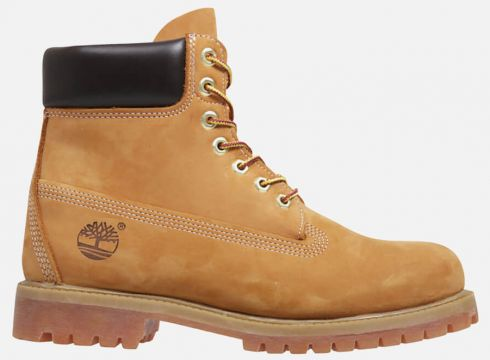 Timberland Men\'s 6 Inch Nubuck Premium Boots - Wheat - UK 11 - Tan(50496305)