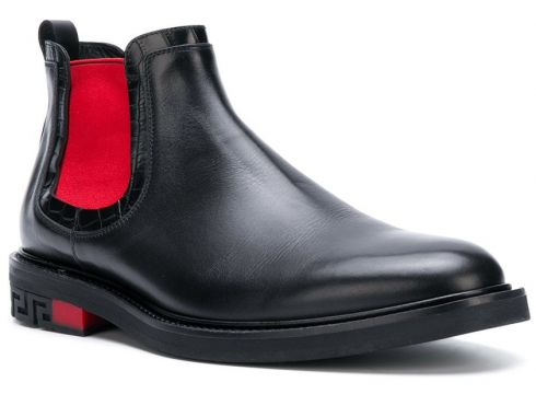 Versace bottines à empiècements contrastants - Noir(65501228)