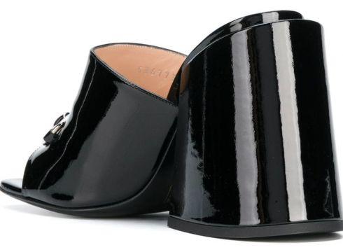 Gucci mules à mors en métal - Noir(76596481)