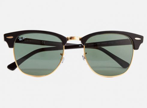 Ray-Ban Clubmaster Sunglasses 49mm - Ebony/Arista(50499398)