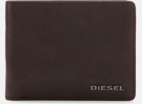 Diesel Men\'s Neela Leather Wallet - Brown(68699423)