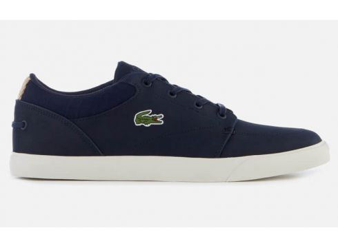 Lacoste Men\'s Bayliss 119 1 Leather Lace Up Trainers - Navy/Off White - UK 7 - Navy/White(69928211)