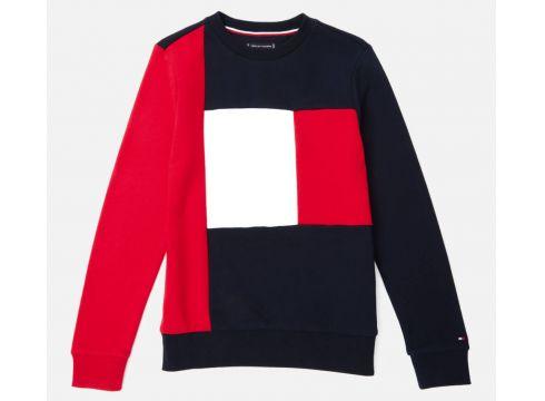 Tommy Hilfiger Boys\' Colorblock Sweatshirt - Lychee - 6 Years - Bunt(83617861)