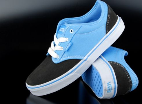 Vans Kids Atwood Sneaker Two Tone Black Blue(77152604)