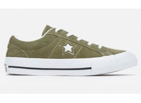 Converse Kids\' One Star Ox Trainers - Field Surplus/White - UK 10 Kids - Grün(56901992)
