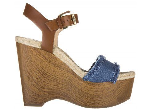 Women's leather shoes wedges sandals leni(99831136)