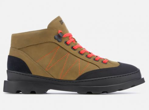 Camper Men\'s Brutus Hiker Style Boots - Medium Brown - UK 7 - Brown(57760794)
