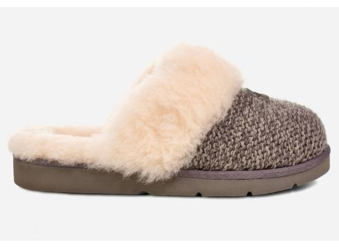 UGG Women\'s Cozy Knit Slippers - Charcoal - UK 3.5 - Grau(60629302)