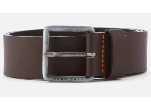 BOSS Men\'s Jeeko Leather Belt - Dark Brown - 95cm/W36(84673638)