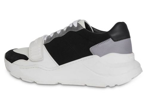 Burberry Suede, Neoprene and Leather Sneakers - Noir(76701330)