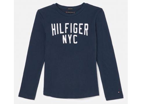Tommy Hilfiger Boys\' Essential Logo Long Sleeve T-Shirt - Black Iris - 6 Years - Blau(68158869)