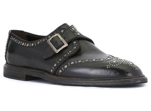 Dolce & Gabbana chaussures à boucle et clous - Noir(65474105)