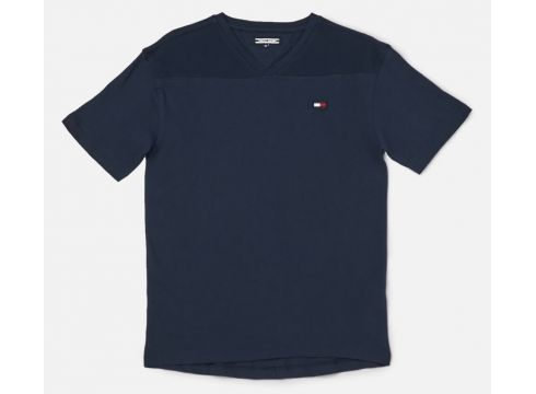 Tommy Hilfiger Boy\'s Sports Pique Mix T-Shirt - Black Iris - 8 Years - Blau(61504795)