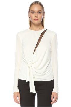 Tom Ford Kadın Beyaz Dantel Garnili Uzun Kol Bluz 36 IT(123319809)