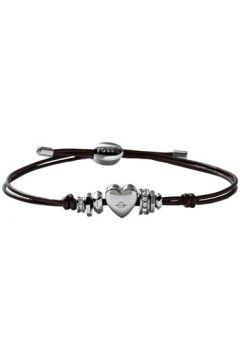 Bracelets Fossil Bracelet en Cuir Marron et Cristal(127940794)