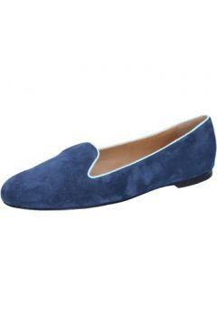 Chaussures Bally mocassins bleu daim celeste BY07(115400840)