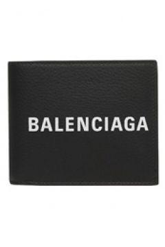 Balenciaga Erkek Every Day Siyah Kontrast Logolu Deri Cüzdan EU(114438230)