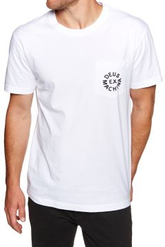 Deus Ex Machina Logo Kurzarm-T-Shirt - White(118064896)