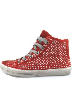 Chaussures enfant Crime London sneakers rouge daim strass AH982(115400554)