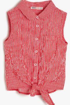 Koton Cep Detaylı Kırmızı Çizgili Gömlek(121813360)
