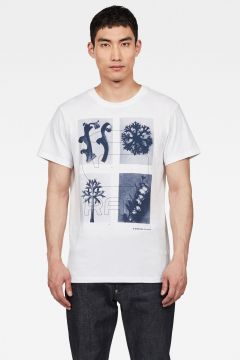 G-Star RAW Men Rijks Graphic T-shirt White(117926697)