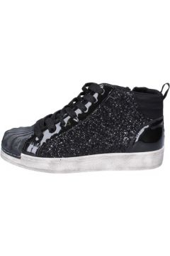 Chaussures enfant Holalà sneakers noir glitter cuir verni BT377(115442807)
