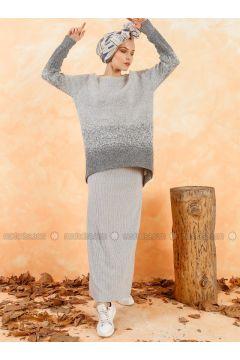 Gray - Unlined - Skirt - Muni Muni(110330509)
