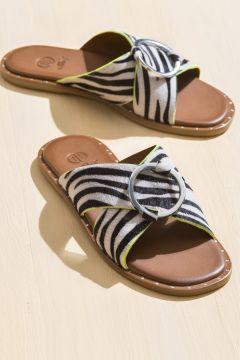Elle Shoes IVY Zebra Kadın Terlik(110975818)