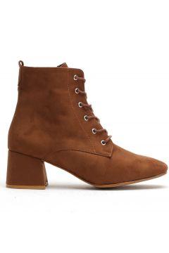 Ayakkabı Modası Taba Süet Kadın Bot(110929350)