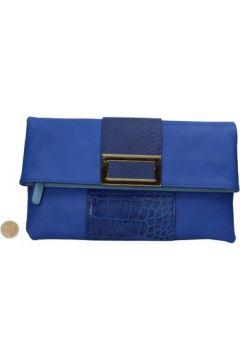 Pochette Oltre sac pochette cuir bleu AR467(115434589)