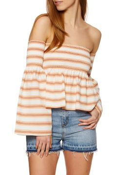 SWELL Shirred Damen Top - Freya Stripe(100258608)