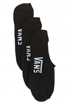 Vans Classic Super No Show Fashion Socks - Black(115308892)