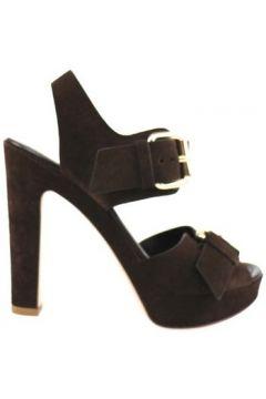 Sandales Lella Baldi sandales brun foncé daim ap827(98485765)