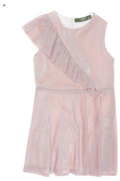 Limon Kız Çocuk Simli Pembe Elbise(120185681)