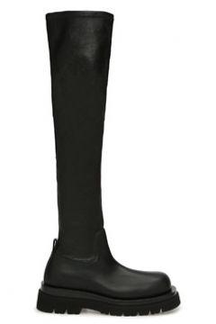 Bottega Veneta Kadın Siyah Deri Çizme 36 EU(122583429)