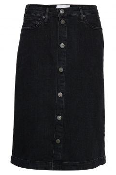 Hepburn Denim Skirt Original Black Knielanges Kleid Schwarz TOMORROW(95002556)