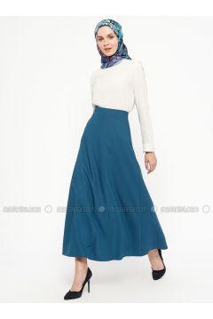 Petrol - Fully Lined - Skirt - Alesya By Tuğba(110320304)