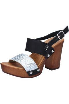 Sandales Made In Italia sandales noir cuir argent BY514(115401152)