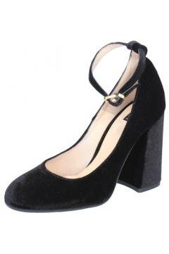 Chaussures escarpins Islo escarpins noir velours BZ233(115393983)