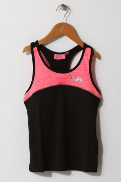 Barbie Kız Çocuk Siyah - Pembe İç Giyim Atlet(125086019)