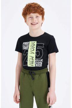 DeFacto Erkek Çocuk Baskılı Kısa Kollu T-Shirt(119060207)
