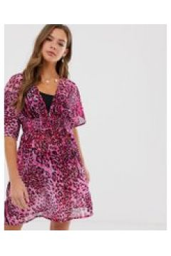 Influence - Strandkleid mit rosa Schlangenhautmuster - Mehrfarbig(94963990)