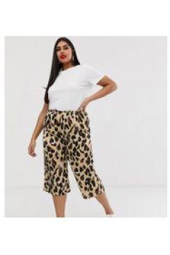 AX Paris - Kurz geschnittene Hose mit Leopardenmuster - Mehrfarbig(85235591)
