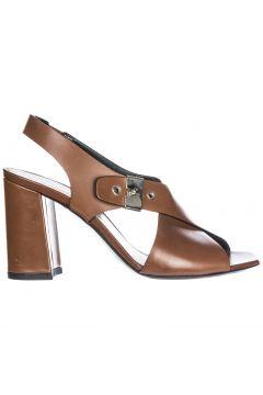 Women's leather heel sandals resina(118072861)